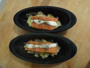 papillotes saumon poireau