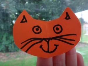 marionnette de doigt chat