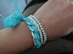 Tuto : bracelet chaîne gourmette et ruban