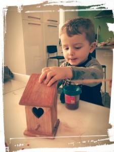 peinture maison d'oiseau