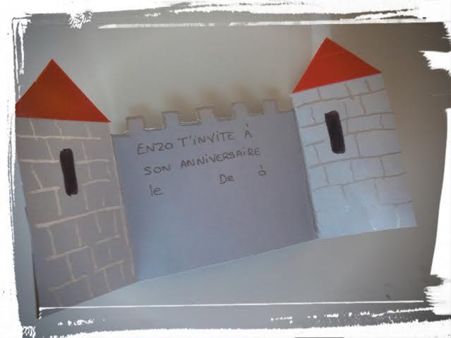 invitation anniversaire chateau fort