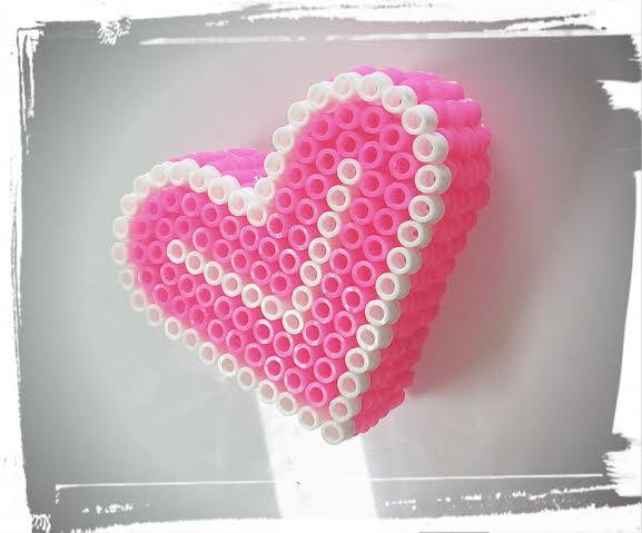 boite coeur perles a repasser