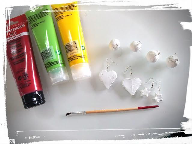 boucle d'oreille peinture