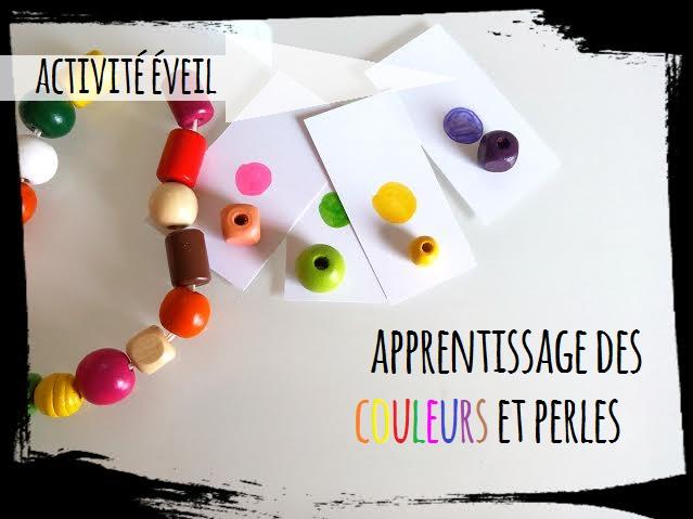 activté eveil apprentissage des couleur et perles