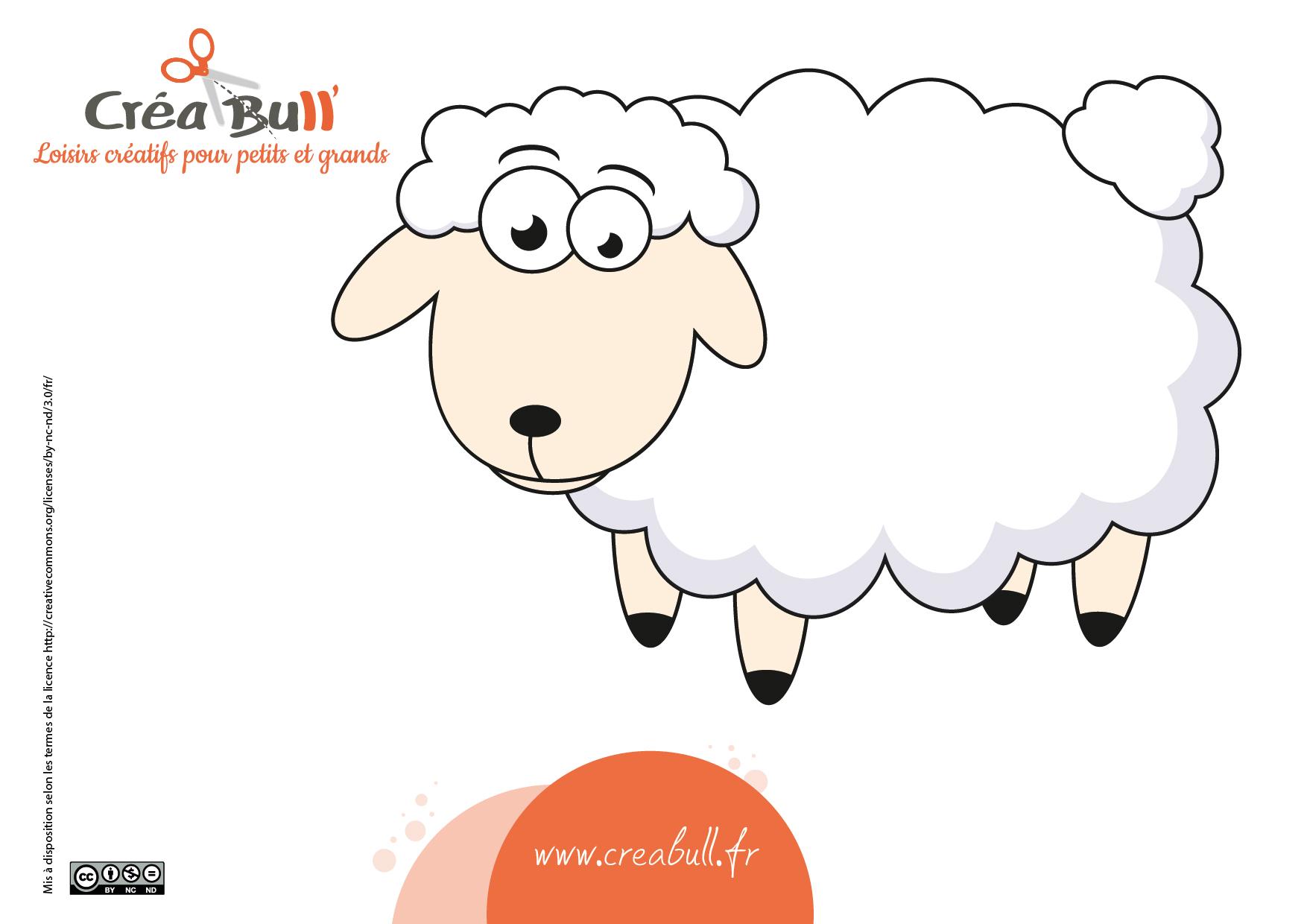 patron mouton activité manuelle