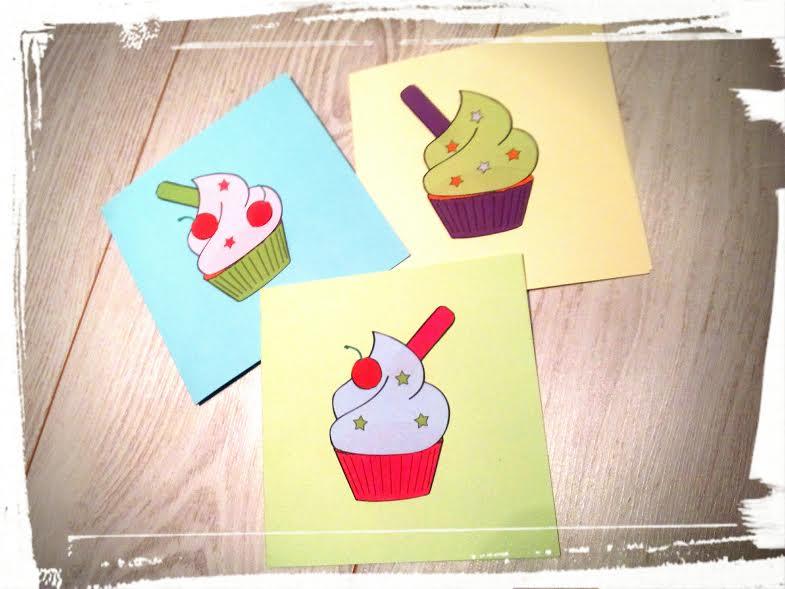 invitation cupcake