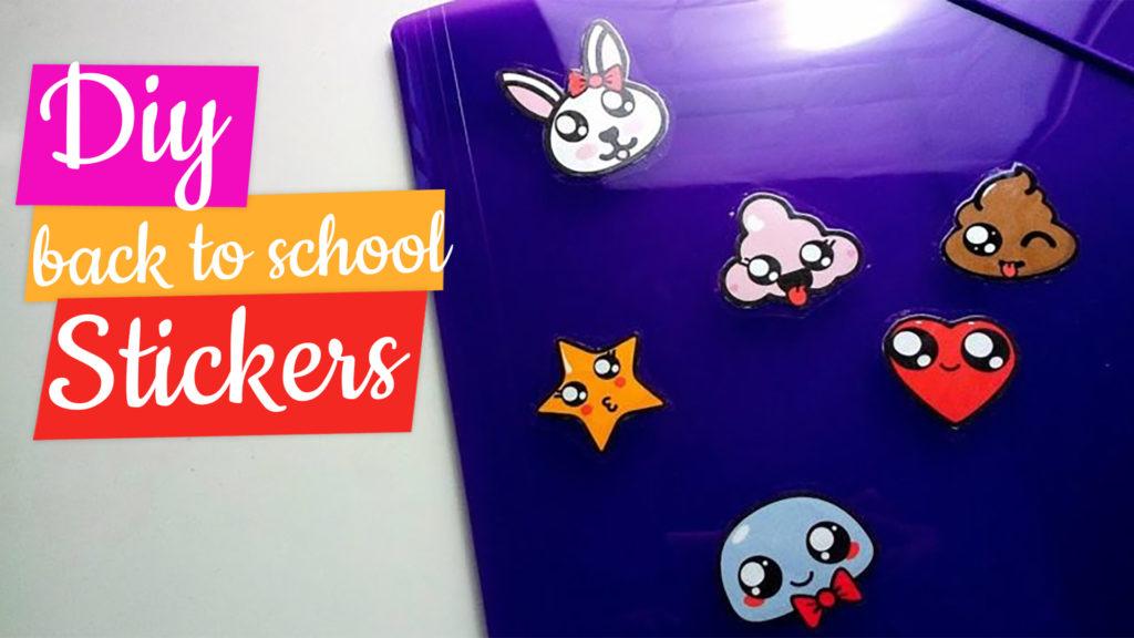 Stickers diy pour la rentrée scolaire