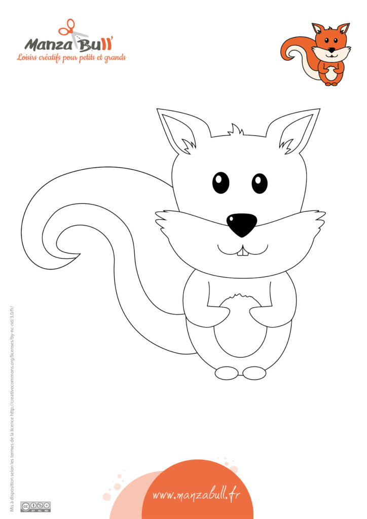 coloriage écureuil à imprimer gratuit