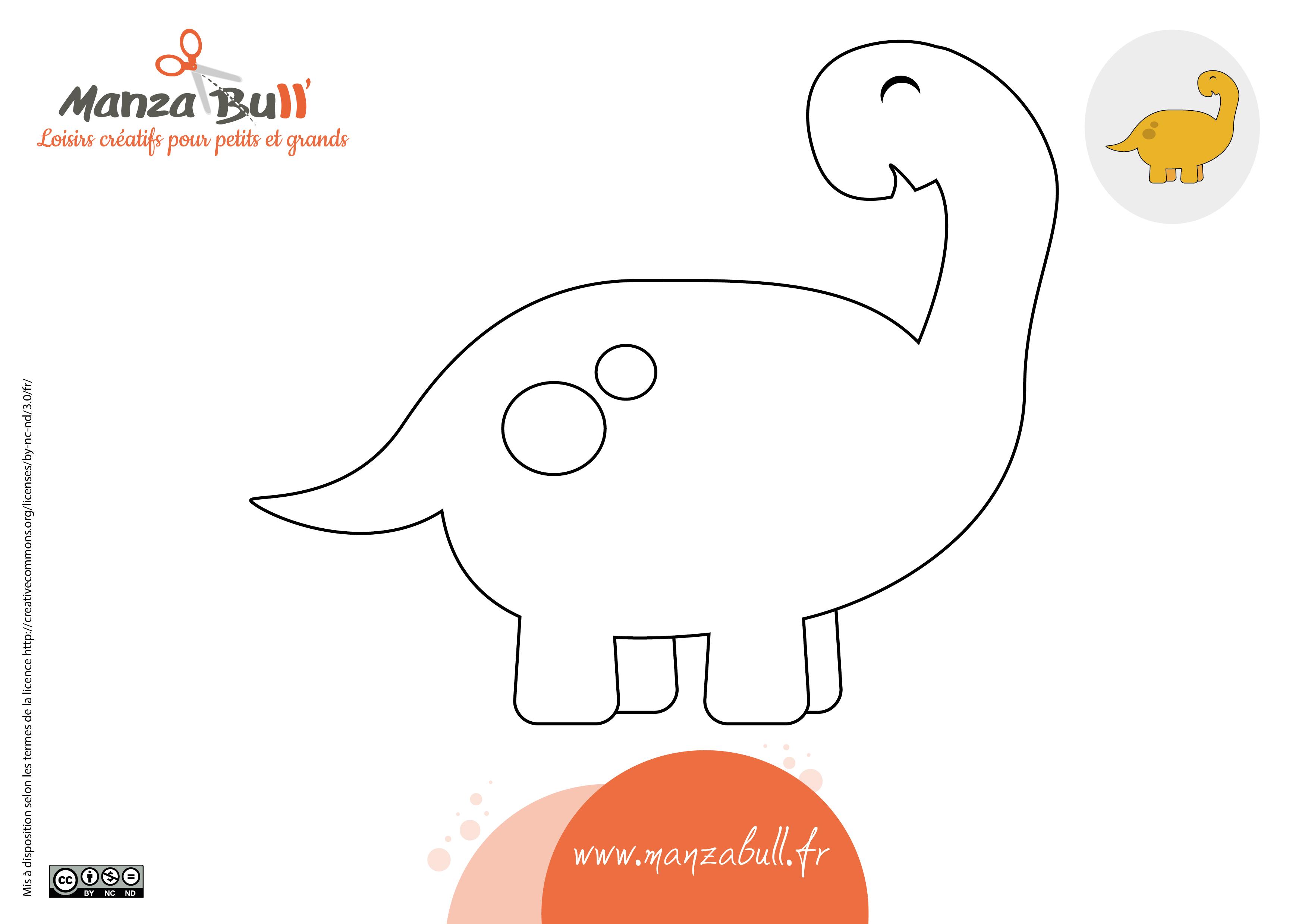 Coloriages Dinosaure A Imprimer Manzabull