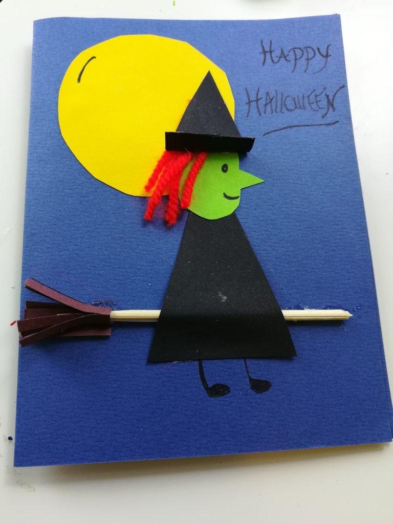 carte halloween sorcière