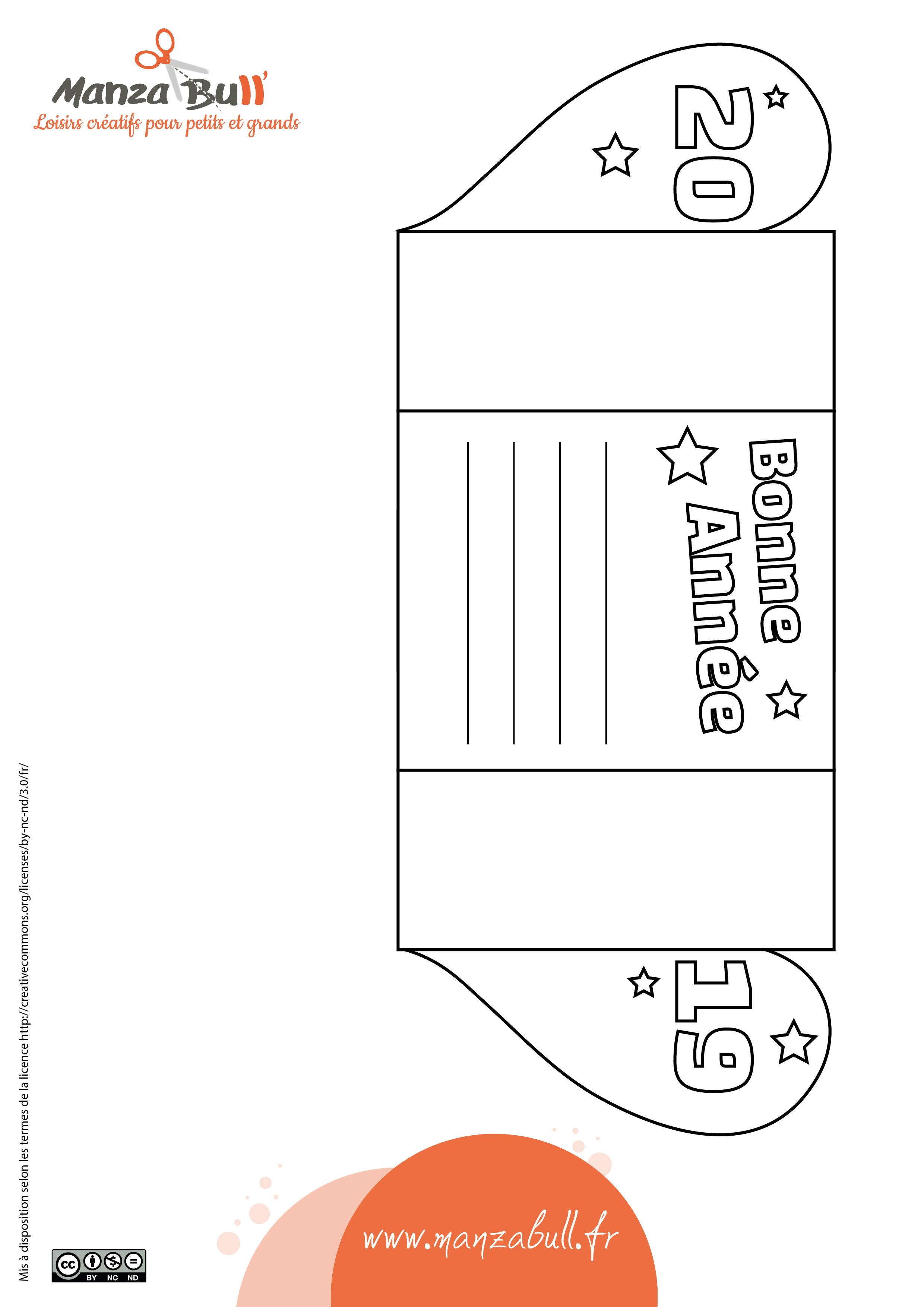 carte de voeux 2019 à imprimer - manzabull'