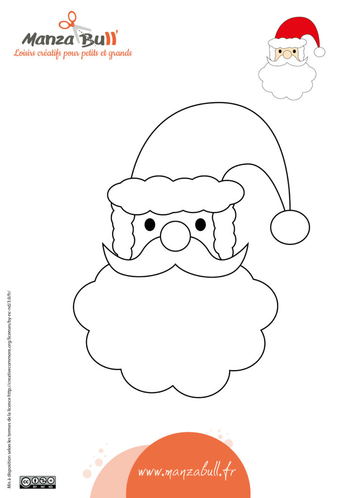 Coloriage père Noël à imprimer - ManzaBull'