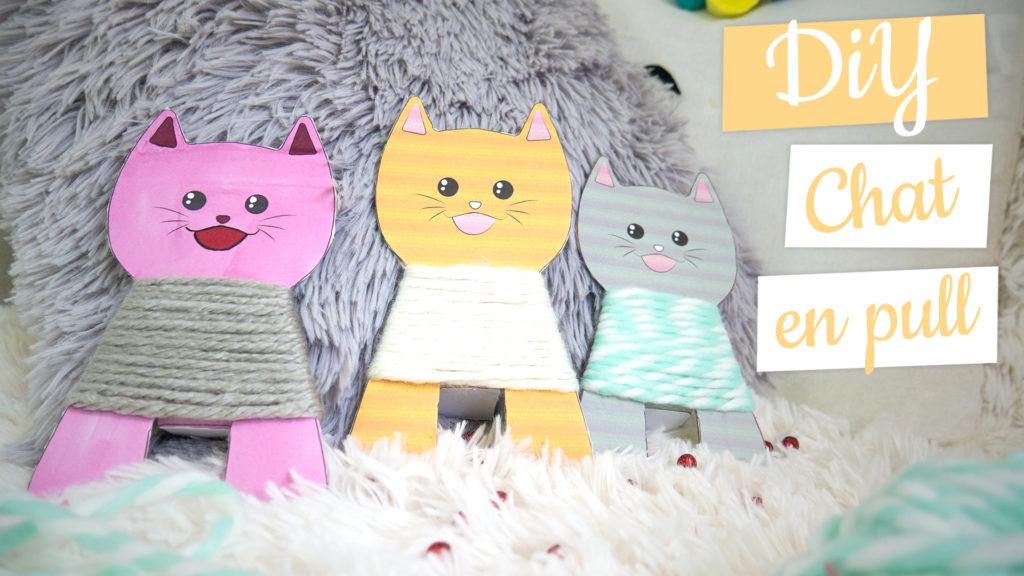 Actvité manuelle chat d'hiver