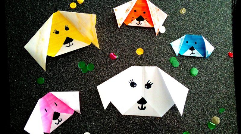 Comment Faire Un Pliage Chien Origami Facile Pour Les Petits
