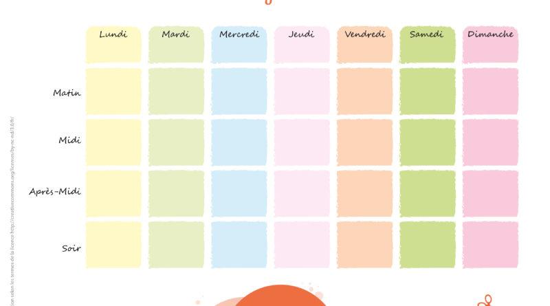 Tableaux Educatifs Pour L Organisation De La Semaine Manzabull