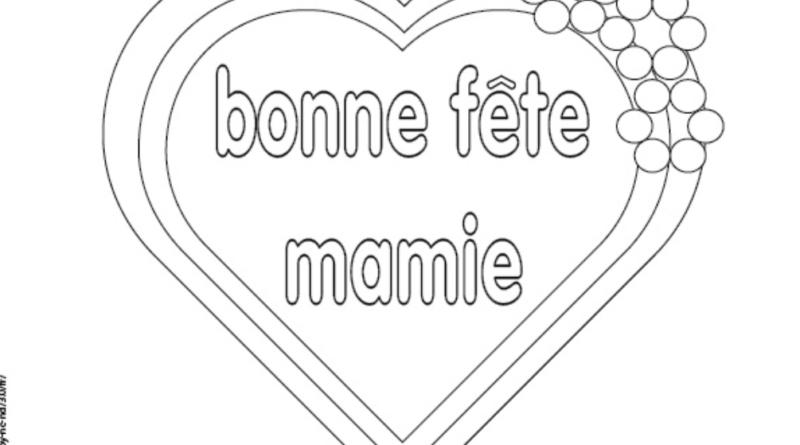 Coloriage Bonne Fête Mamie Manzabull