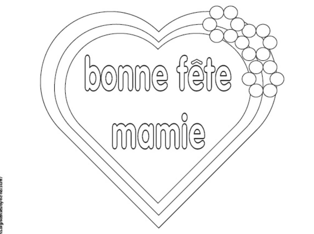 Coloriage Bonne Fete Mamie Manzabull