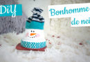 Bonhomme de neige – pot en terre cuite