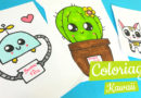 Coloriage kawaii effet dessin