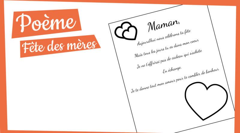 Poème Fête Des Mères à Imprimer Manzabull