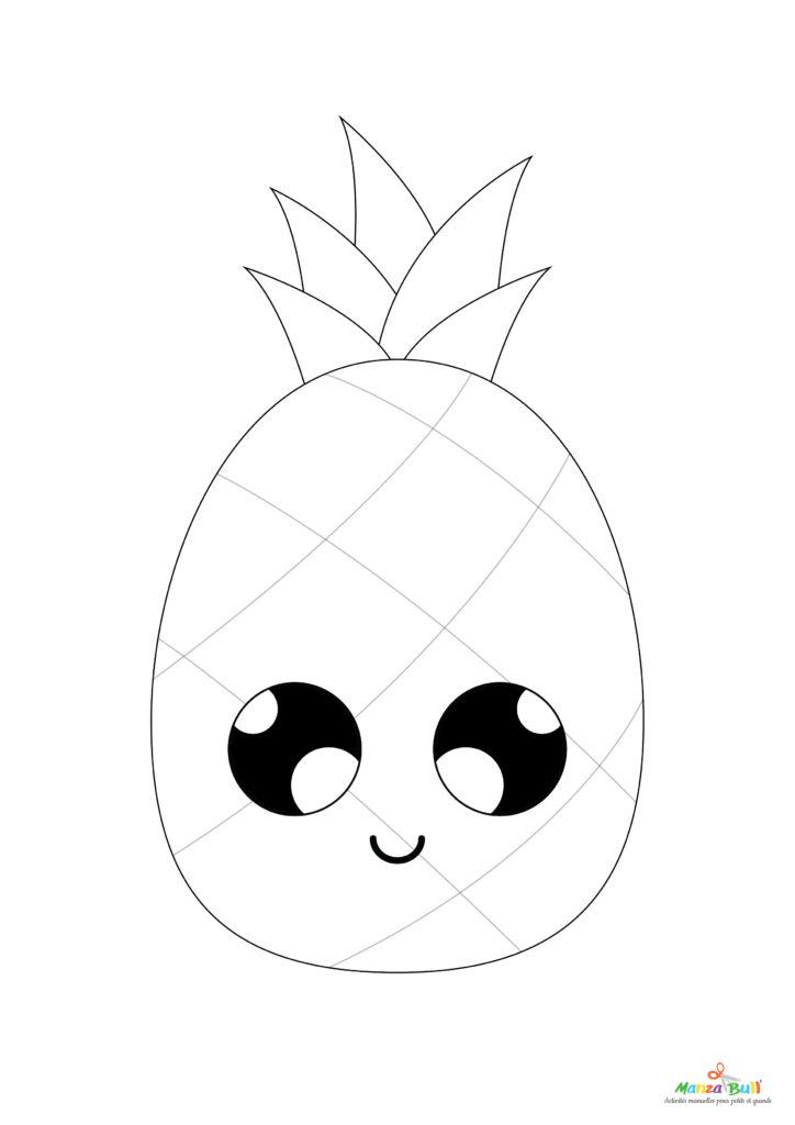 patron tuto ananas rentrée scolaire