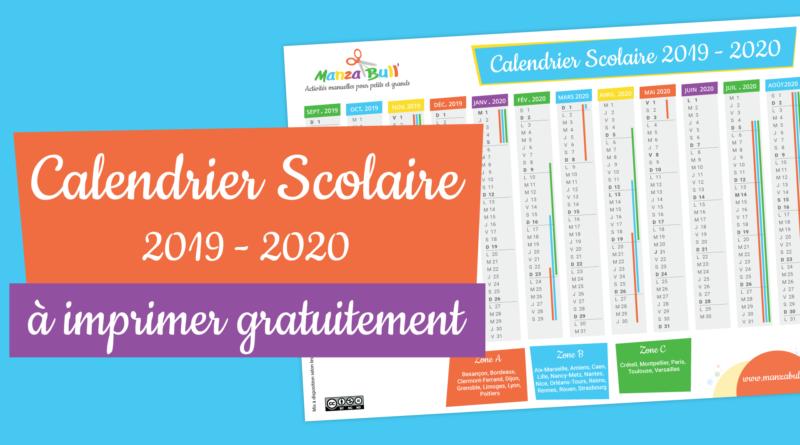 Calendrier scolaire 2019 – 2020 à imprimer