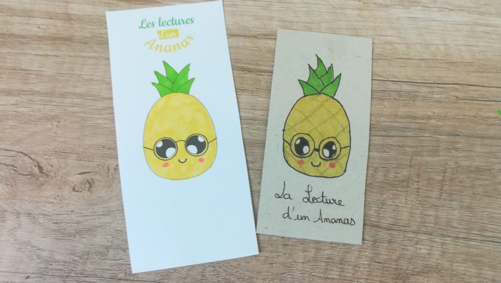 marque page ananas