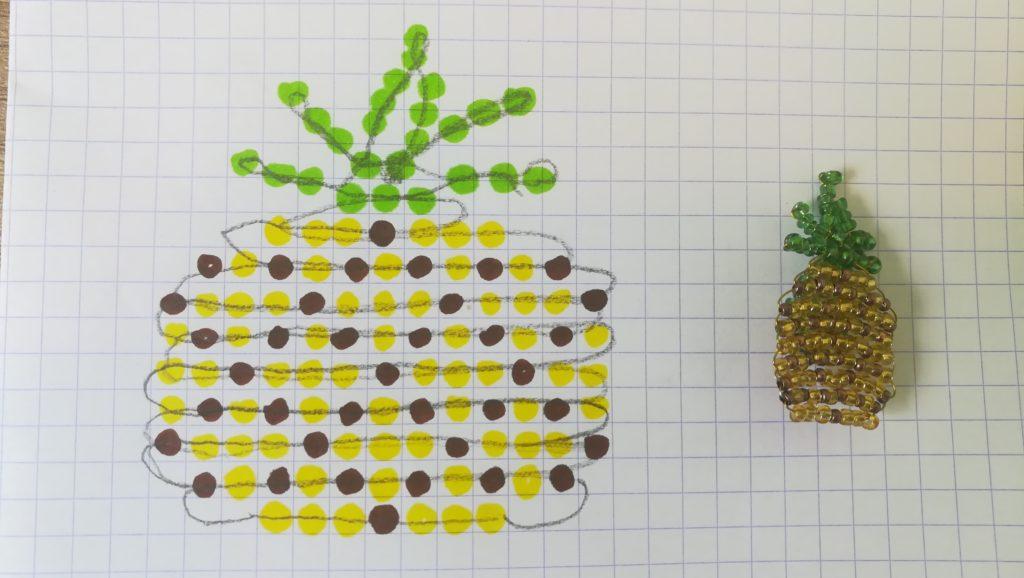 schéma perles ananas