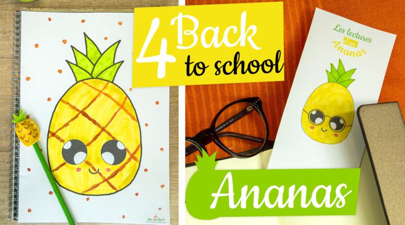 Tuto rentrée scolaire ananas