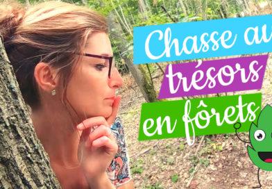 Chasse aux trésors dans la forêt