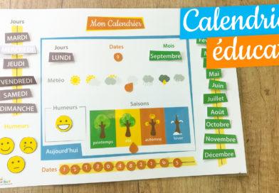 Calendrier Montessori pour enfant à faire soi même