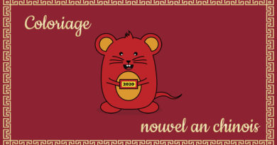 Coloriage Nouvel an chinois - Le rat