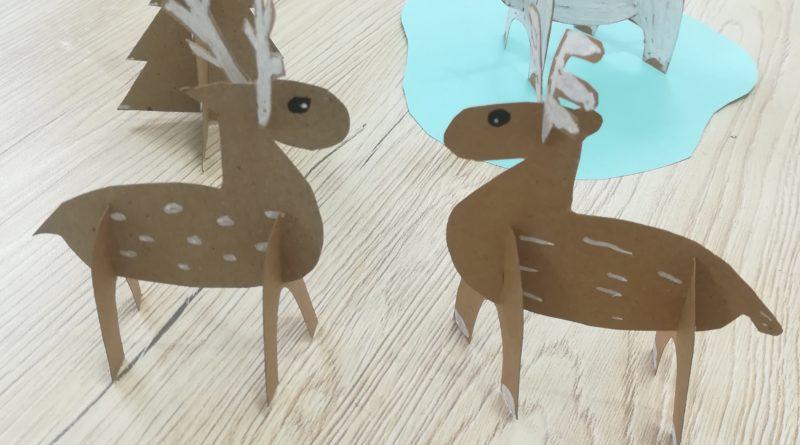 Activité manuelle d'hiver : mes animaux en carton