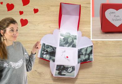Explosion Box facile pour la Saint Valentin