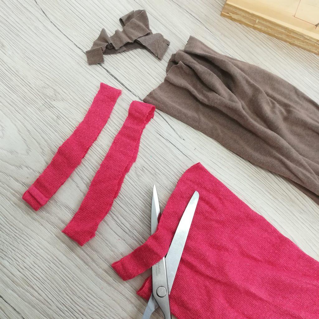 tuto tawashi decouper des bandes de tissu