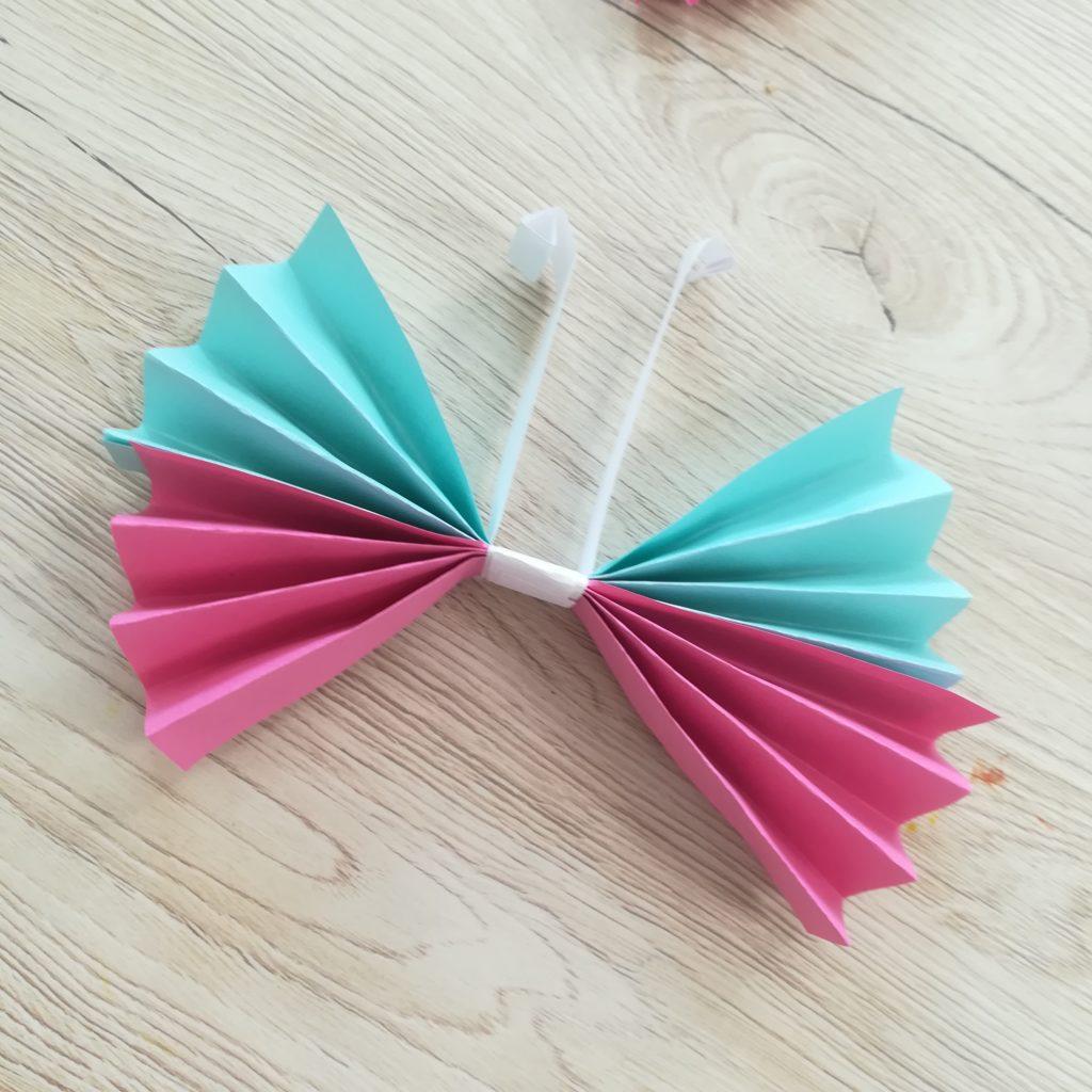 origami papillon papier