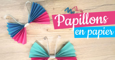 papilllon en papier origami confinement printemps