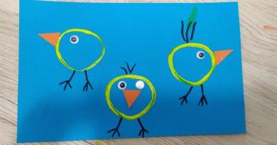 activité de pâques poussin peinture