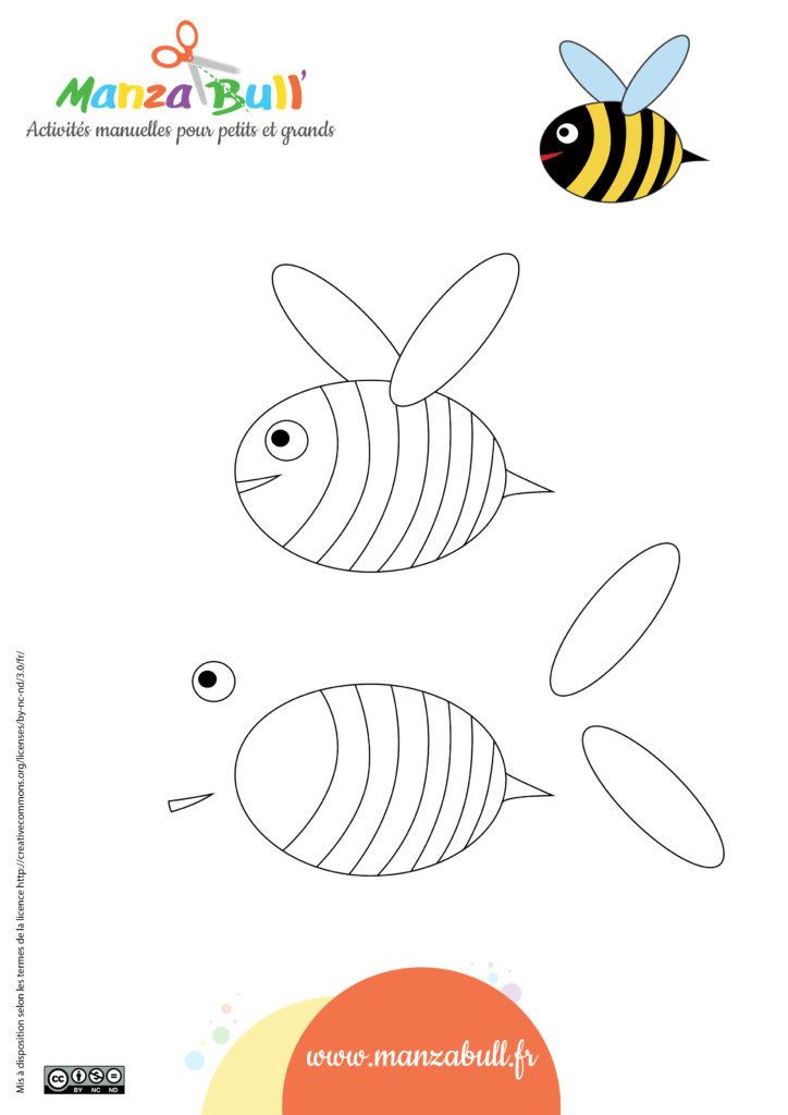 patron activité enfant abeille