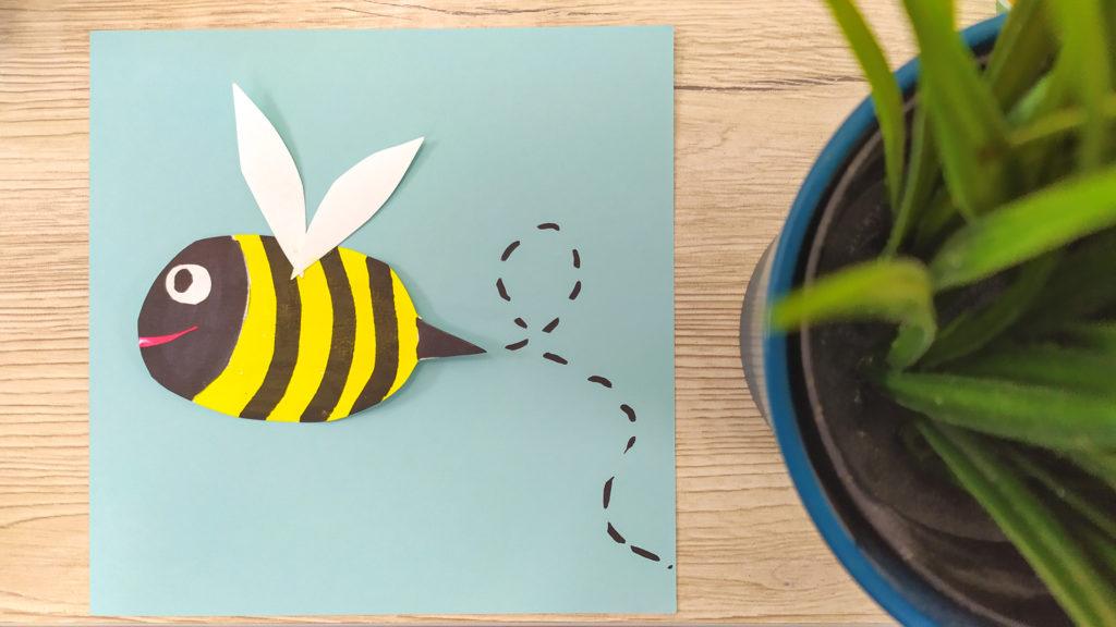 Activité enfants abeille en papier