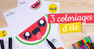 3 coloriages d'été - Manzabull'
