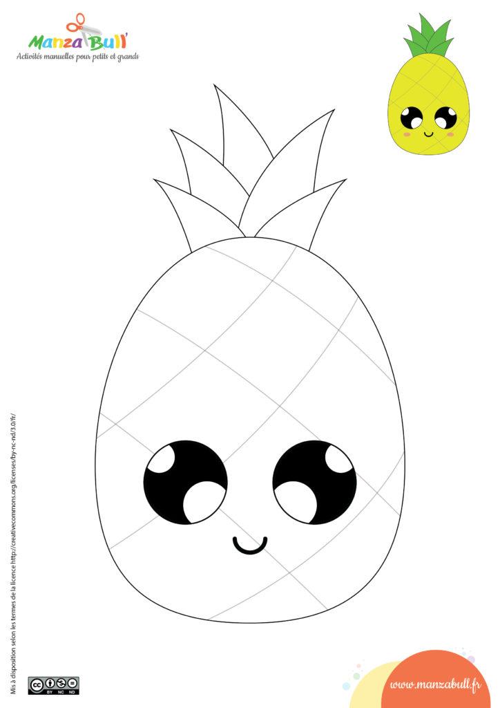 coloriages d'été - ananas