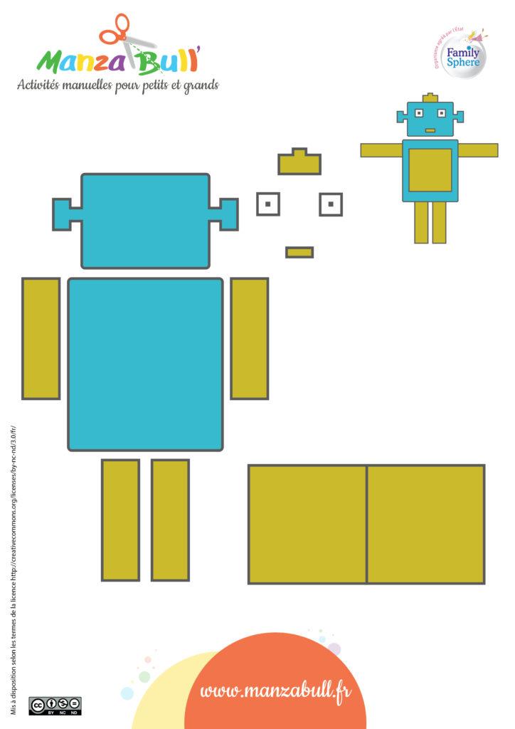 fête des pères carte robot