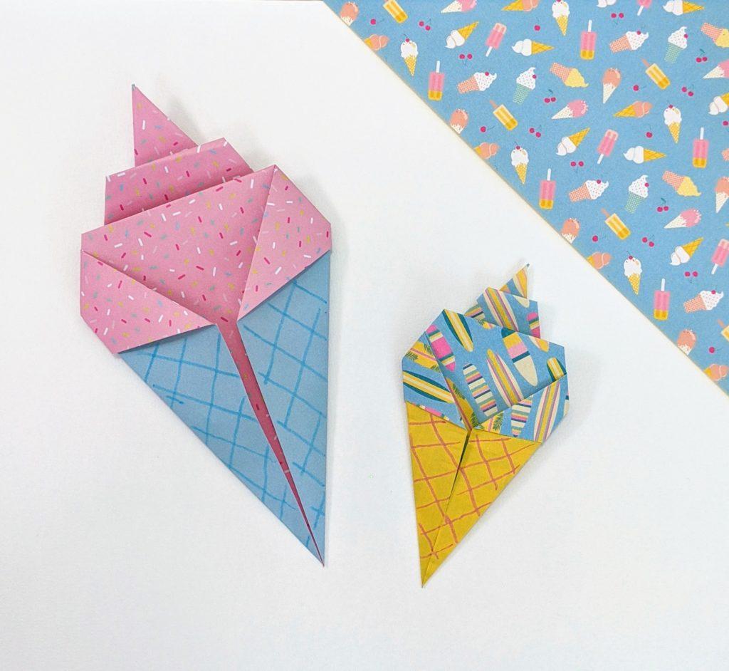 tuto origami glace facile