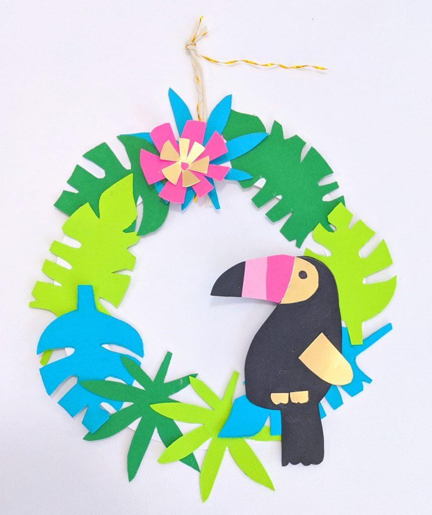 couronne DIY déco tropicale