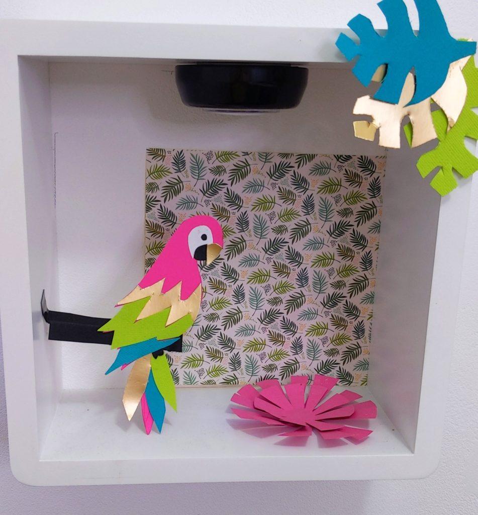 perroquet DIY déco tropicale