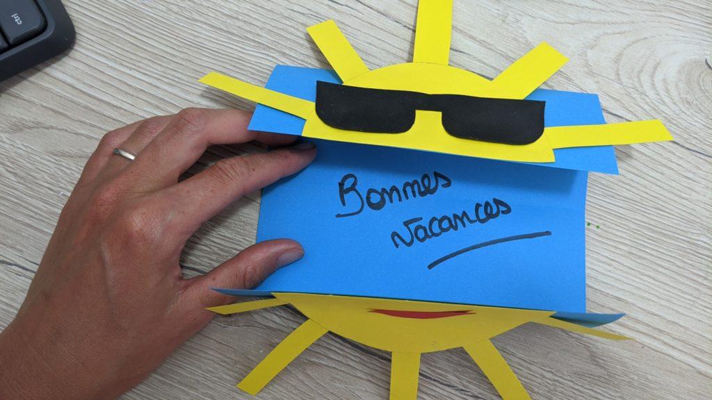 carte d'été soleil terminée, plus qu'as mettre un petit mot