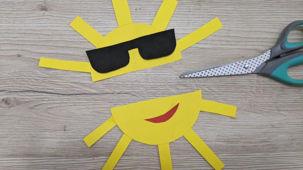 carte d'été soleil découpage