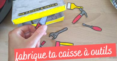 Activité chantier : fabrique ta caisse à outils en papier