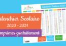 Calendrier scolaire 2020 – 2021